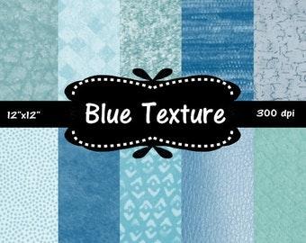 "50% off Sale Blue Texture Digital Paper Pack  12 x 12 "" scrapbooking, background, texture"