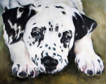 Dalmatian Art Print, Animal Archival Print, Animal Print, 8x10, Print of Dog, Black and White