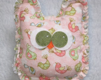 Minky Owl Plush - BIRD NURSERY -  Baby Shower Gift
