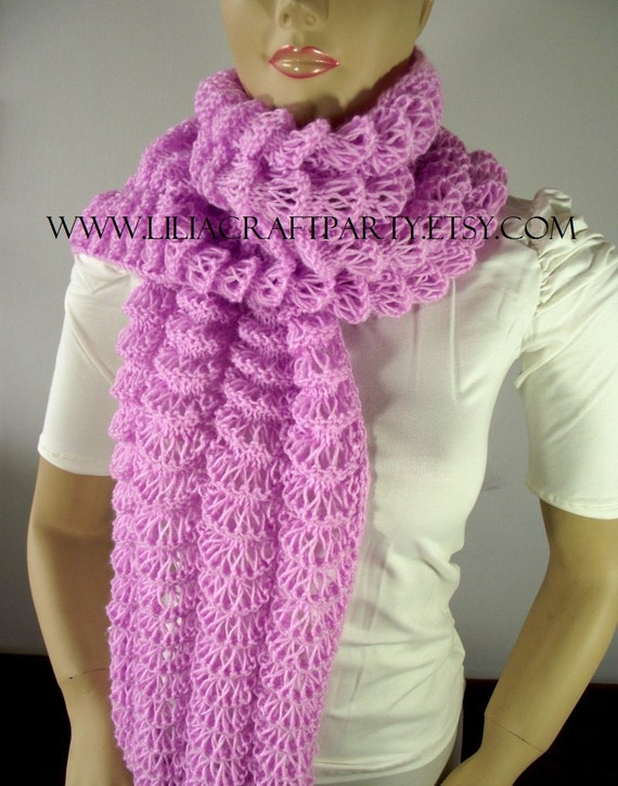 KNITTING PATTERN SCARF - Angel Wings Long Chunky Scarf ...