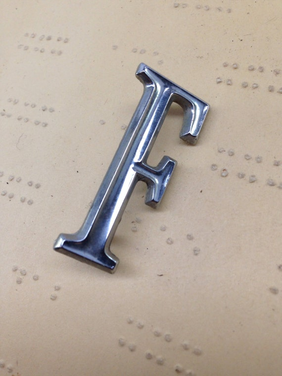 small metal f pendant charm vintage car letter classic With small metal letters for jewelry