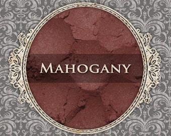 MAHOGANY Matte Eyeshadow: Samples or Jars, Deep Red Brown, Loose Powder Eyeshadow, Cosmetic Pigment, VEGAN Makeup, Ships Out in 4-7 Days