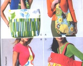 Butterick pattern B5799-  multi use Market or Shopping Bags 2 styles - Large Square or Hobo bag style