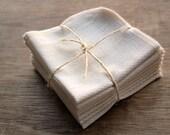 Organic Facial Cloth Wipe Cotton Birdseye Reusable Eco Friendly -- Set of 8, Organic Cloth and Thread