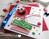 Elmo Themed Sesame Street Birthday Card!