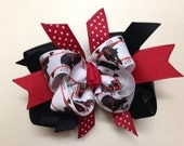 Texas Tech Boutique Layered Hairbow