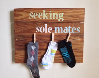 Laundry Room Decor - Seeking Sole Mates