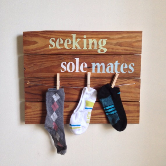 Laundry Room Decor - Seeking Sole Mates