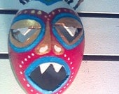 Hand Painted Caribbean Mask- Local Gourd - Veijgante - Small  Carnival Mask