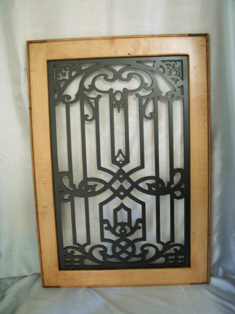 Orla-Cabinet Door Panel Insert in decorative iron.. Available