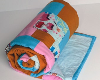 SALE, Geometric Quilt, Fall Contemporary Quilt, Wedding Quilt, Modern Quilt