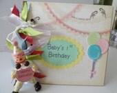 Baby Girl's First Birthday Keepsake