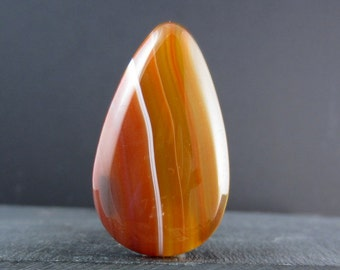 SALE beautiful  polished  and cut orange  agate  cabochon ,  Gemstone , Jewelry making Supplies S4235