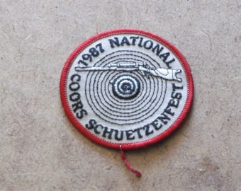 Vintage 1987 National Coors Schuetzenfest Patch