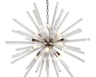 sputnik chandelier - murano glass italian mid century design