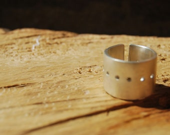 Sterling silver Contemporary Ring. Handmade. Minimal design. Made to Order