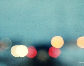 lights, bokeh, blur, winter, night, travel, fine art photography
