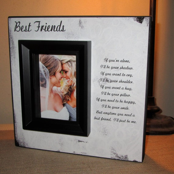 Friendship Picture Frames With Quotes: Bridesmaid Gift, Best Friend Gift, Maid Of Honor Gift