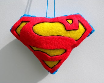 Felt Christmas Ornament - Felt Superman Ornament
