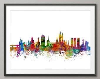 Aberdeen Skyline, Aberdeen Scotland Cityscape Art Print (1311)