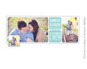 INSTANT DOWNLOAD  - Facebook Timeline Cover photoshop template - Save the Date - E382
