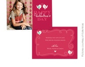 INSTANT DOWNLOAD -  Valentine Card Photoshop Template - Little Lovers- E286