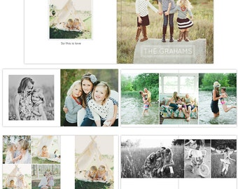 INSTANT DOWNLOAD - 12x12 Wedding album template - Pure Essential - E1067