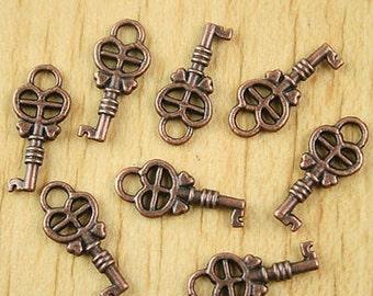 1 Key Charm, Antique Copper  18 x 8 mm U.S Seller -  sc201