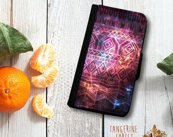 Universe & Aztec Wallet Case. Available for iPhone 4/4s, 5/5s, 5c, 6/6s or 6+/6s+