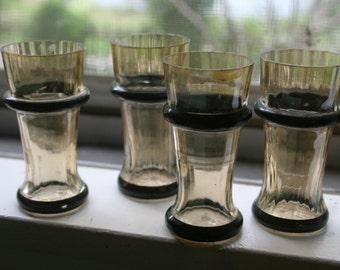 Antique Gothic Iridescent Shotglasses Set of Four