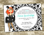 Great Gatsby/Flapper Inspired Bridal Shower/ Party Invitation - Customizable