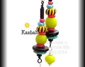 Reserved for CAROL. KAZBAH, Fun Artist Earrings, Colourful, Comfortable, Australian Made