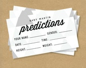 BABY SHOWER PREDICTION - Printable - Triangles