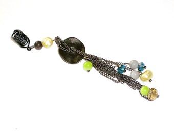 Dreadlock Jewelry - Gun Metal Chain Tassel Loc Jewel