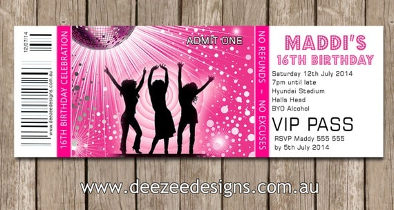 Disco Party Invitations with luxury invitations template