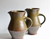 M.A.S. // Michael Andersen, Bornholm Denmark, Pair of Stoneware Water Jugs