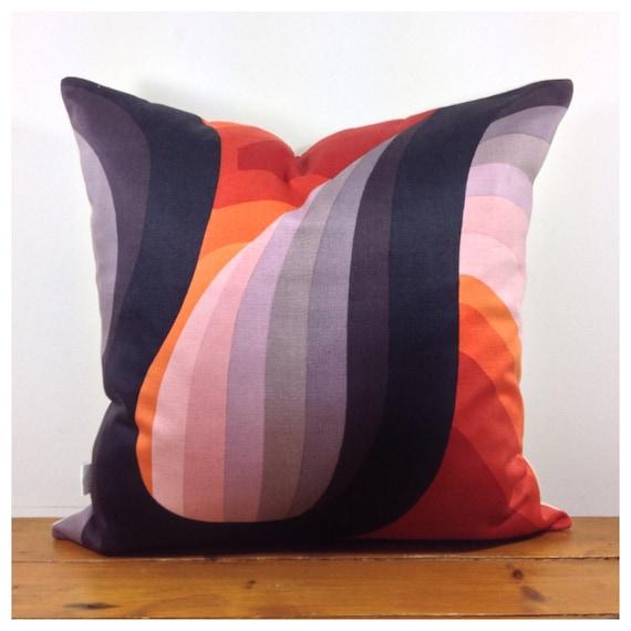 1960s vintage retro galleria fabric throw pillow - Fabric for throw pillows ...