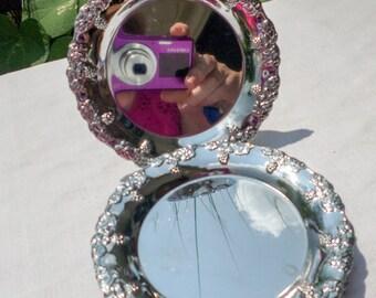 Metal Wine Coaster Set, Silvertone Mirror Finish Set of 6