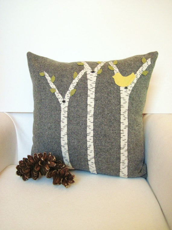 Decorative Throw Pillow Rustic Cabin Pillow Birch By