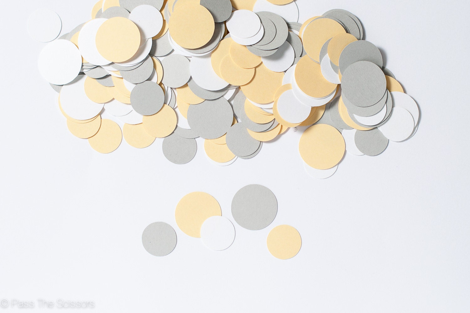 Party decoration circle confetti modern yellow and gray for Baby confetti decoration