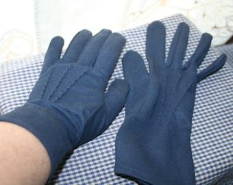 Gloves Navy Blue Above the Wrist Garden Party Gloves