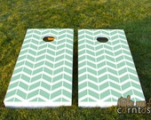Simply Chevron - Couture Cornhole / Classy Corntoss / Bag Toss Wedding Game
