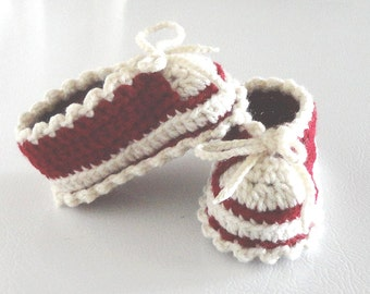 Booties #002 shoes slip ons crochet pattern PDF digital item baby toddler children infant