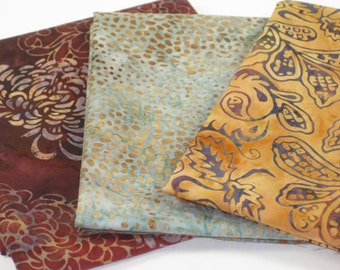 Beautiful Batik Cotton 3 PC Fat Quarter Set