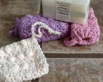 Soap Saver Sack- 100% cotton- Spa ready