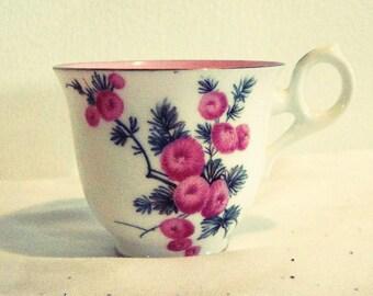 SALE - Vintage Royal Crown England Bone China Floral 14K Gold Trim Tea Coffee Cup