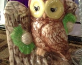 OWL Bank Book End an adorable item for decor or wise savings