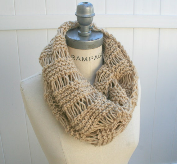 Knitting Items To Sell : Knit scarf best selling items beige hand knitted