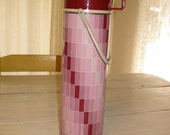Retro Plum Color Metal Quart Size Thermos - Brand Thermos with Handle