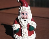 Miniature HANDCRAFTED Clay Santa Claus